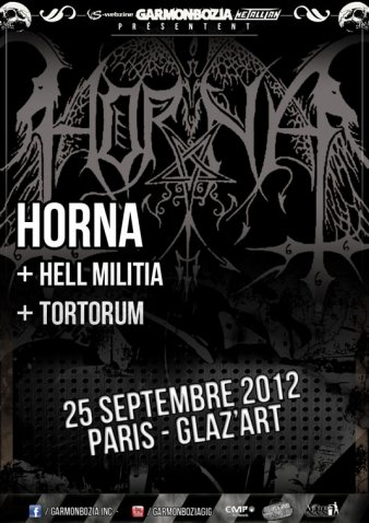 Horna / Blacklodge / Tortorum le 25 septembre 2012 au Glaz'art (Paris)
