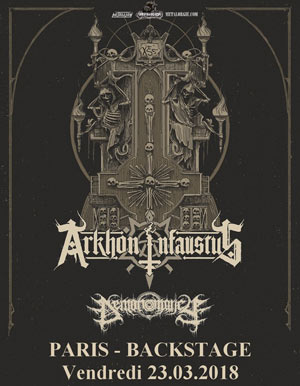 Arkhon Infaustus, Paris, Backstage by the Mill, 23 mars 2018