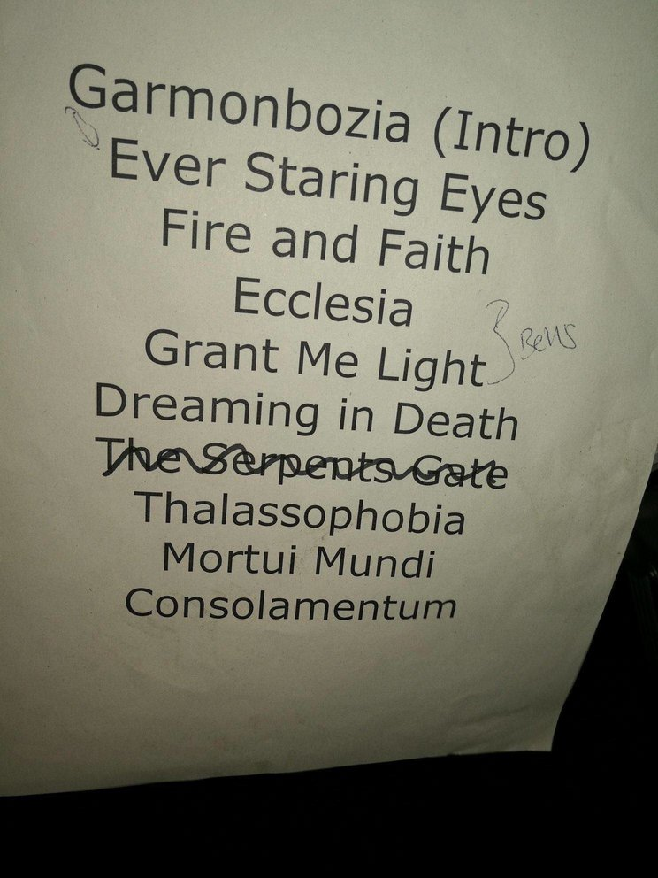 set-list Ascension