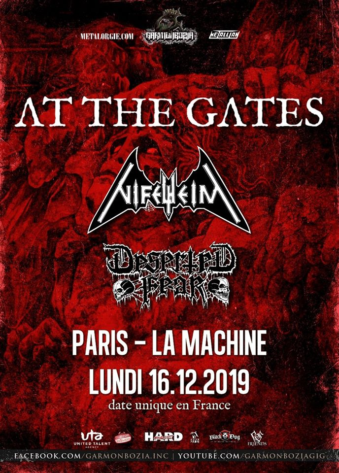At The Gates, Paris, Machine du Moulin Rouge, 16 déc. 2019