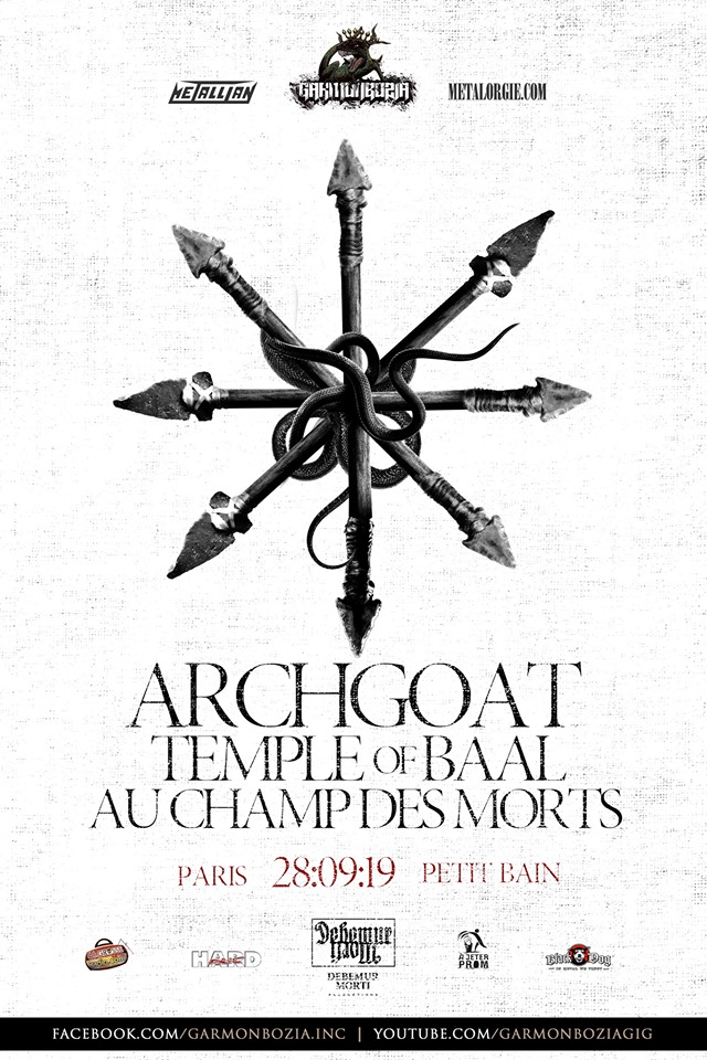 Archgoat, Paris, Petit Bain, 28 sept. 2019