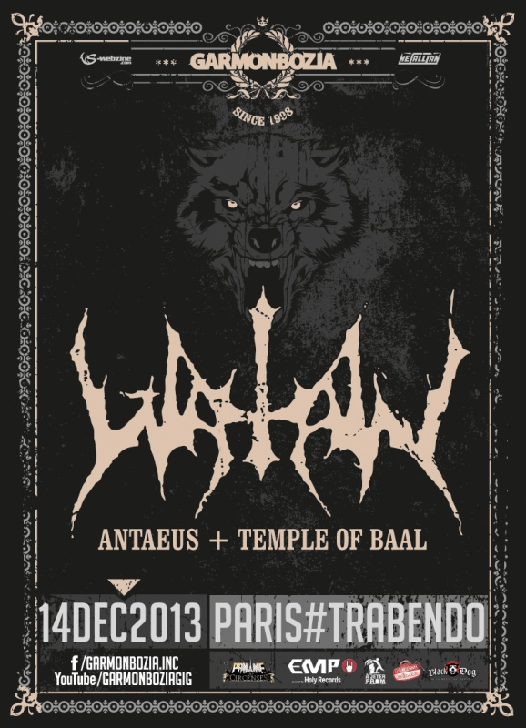 Watain / Antaeus / Temple of Baal - 14/12/2013 - Le Trabendo